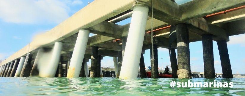 hidrodemolicion de pilotes bajo el agua