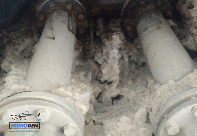 , Demolición en el interior de presas sin vibraciones