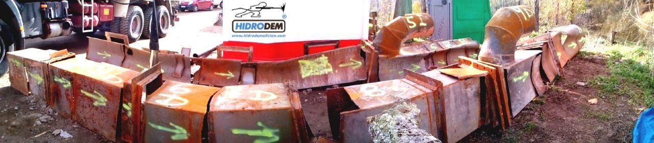 , Recuperación de válvulas y tuberías en la presa 'El Pajarero'
