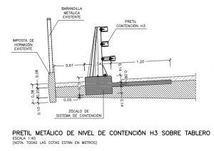La hidrodemolicion ofrece la mejor cimentación posible para el nuevo pretil, SUSTITUCIÓN DE PRETIL EN EL NUDO SUR DE LA M-30 (MADRID)